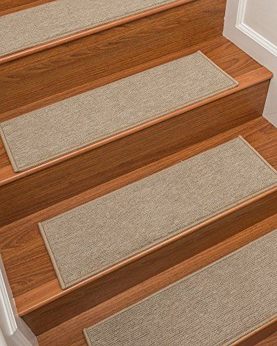 NaturalAreaRugs Kenya Carpet Stair Treads, Set of 13, 9