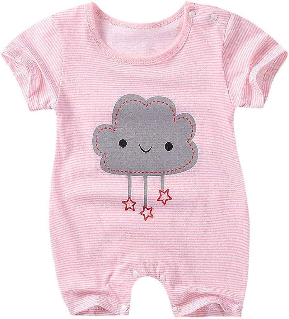 Bodys Volantes Bebe ni/ña Body Manga Corto Recien Nacido bodis para beb/é ni/ños ni/ñas Pijama Algodon Tops Camisa
