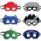 VEBE Cartoon Hero PJ Masks Party Supplies Dress Up Costumes Set of 6 Masks For Kids