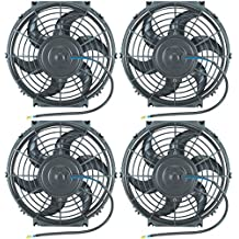 """American Volt 4-pack 10"""" Inch Electric Fans 12v Radiator Cooling Fan Belt Drive Replacement"""