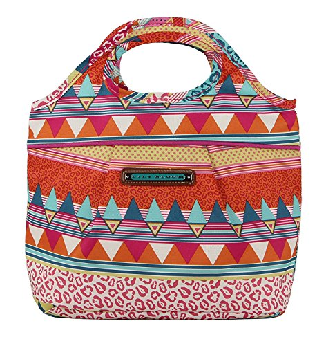 Lily Bloom Insulated Cinch Top Lunch Cooler/Tote (On the Prowl)