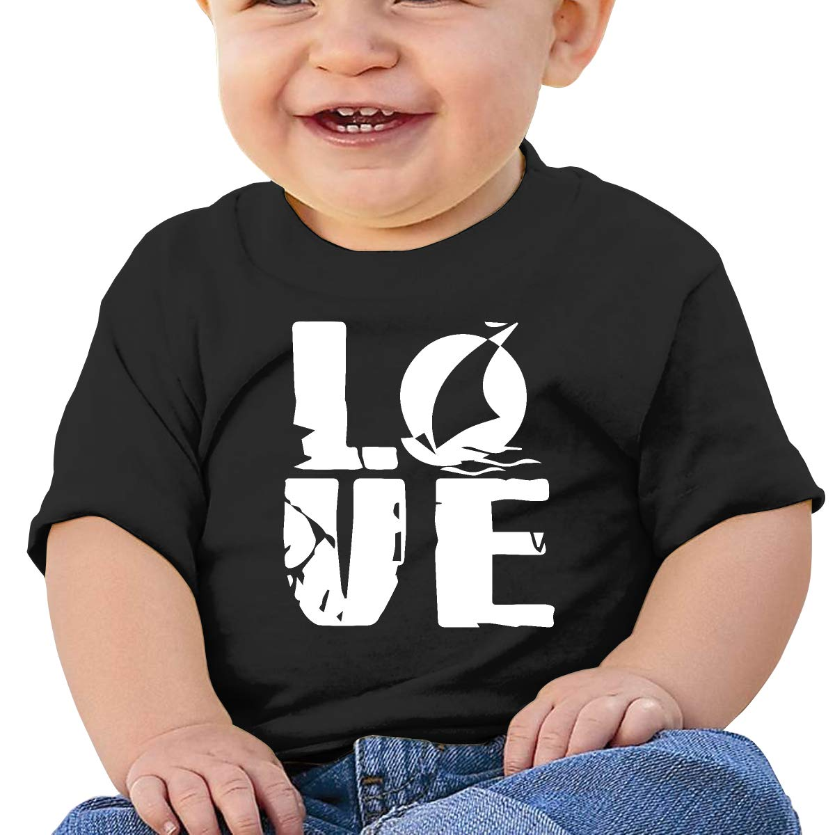Love Boat1 Baby Boy Newborn Short Sleeve T Shirts 6-24 Month Cotton Tops