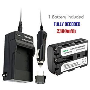 Kastar NPFM50 Battery (1-Pack) + Charger for Sony NP-FM30 NP-FM50 NP-FM51 NP-QM50 NP-QM51 NP-FM55H and CCD-TR DCR-PC DCR-TRV DCR-DVD DSR-PDX GV HVL Series Camcorder (Search The Model in Description) (Color: 07 (COMBO: 1 BATTERY + 1 NORMAL CHARGER KIT), Tamaño: 1 Charger + 1 Battery)