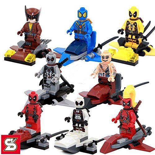 (WadeWilson/DeadFigures Heroes Minifigures With Sword) SuperHeroes DIY Building Blocks Brinks - Diy Comic Con Costumes