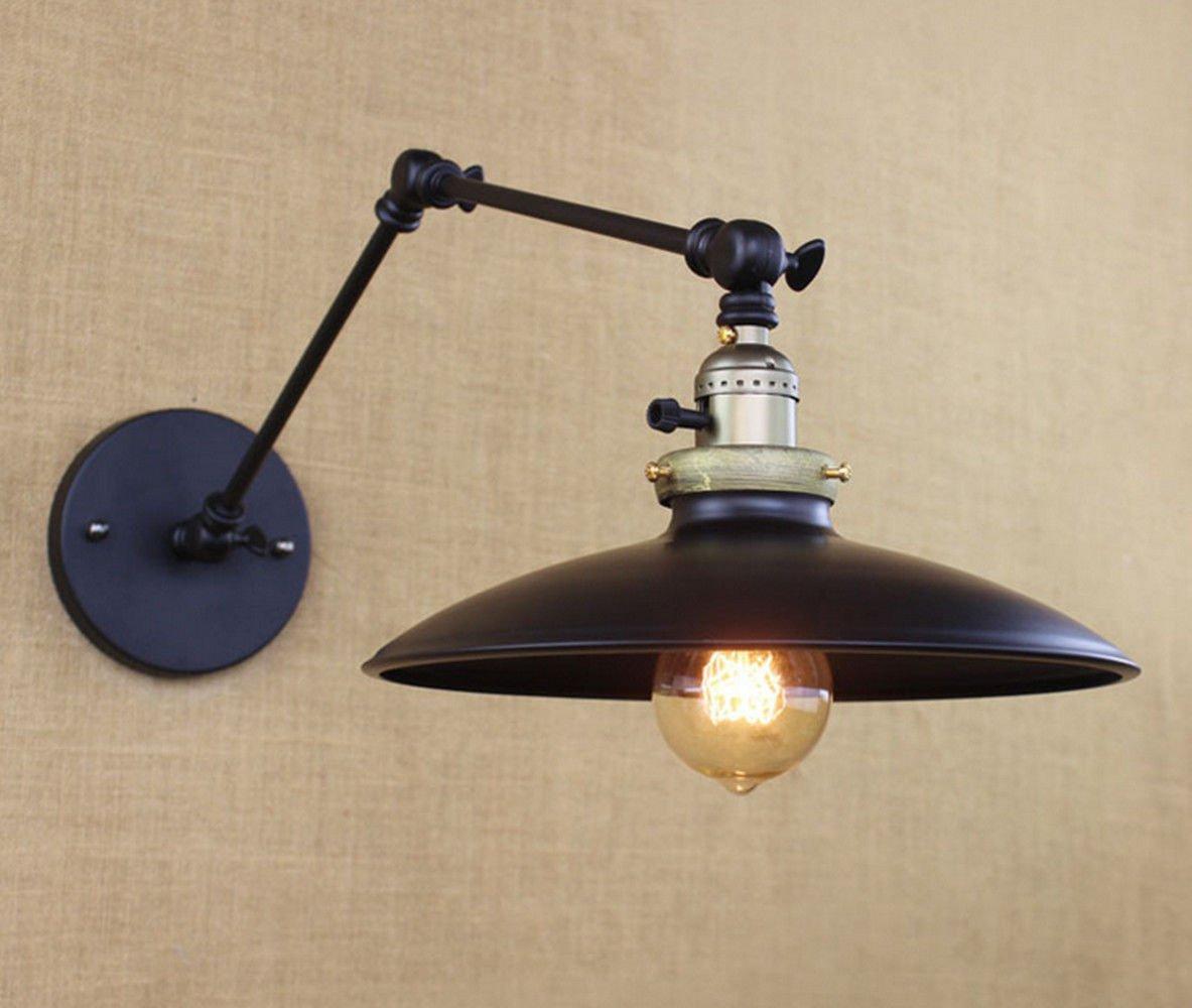 jixiang Applique Industrielle,luminaire Style Vintage, Vintage Applique,[Classe énergétique A+]Industrielle américaine rétro Minimaliste Long Bras de Fer Lampe Murale à LED Jixiang Lighting