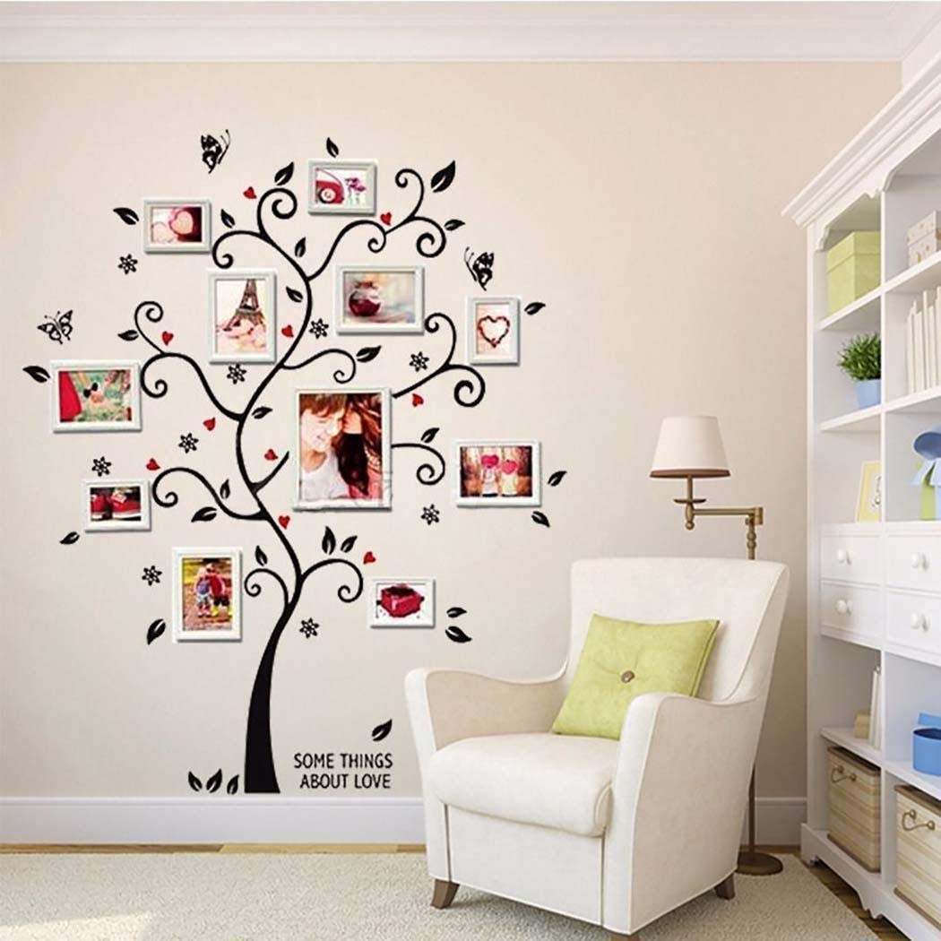 Alisena 18 x 24 inch Multicolor Home Decor Self-Adhesive Wallpaper Tree Patterns DIY Removable Wall Sticker for Bedroom Living Room Kitchen