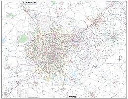 San Antonio Greater Bexar County Laminated Wall Map Large 48 X61