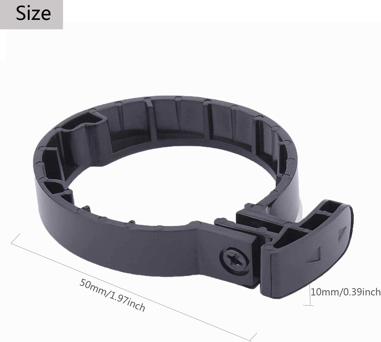 Black Plastic Wear-Resisting Circle Clasped Guard Ring Buckle for M365 Scooter to Extend Service Life Yosoo Health Gear Electric Scooter Ring Buckle