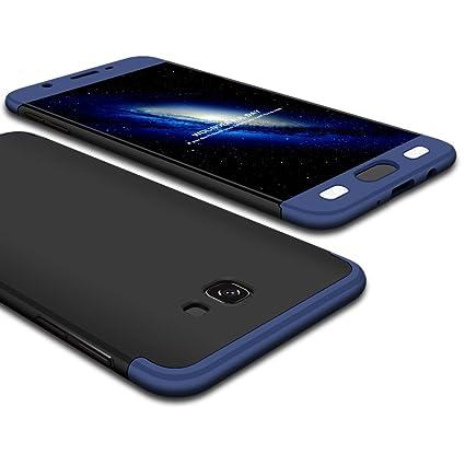 lowest price 53fcf 3f0f1 Bounceback ® Samsung Galaxy J7 Prime 2 Cover Case 3 in1 360º Anti Slip  Super Slim Back Cover for Samsung Galaxy J7 Prime 2 (Black & Blue)