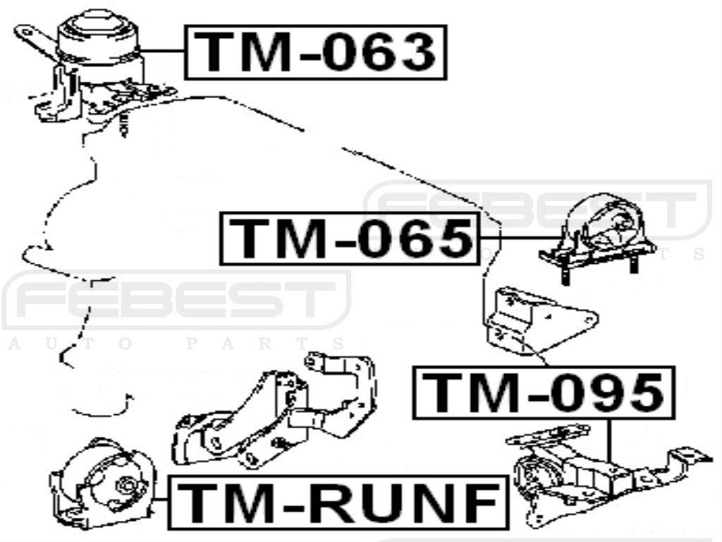 1 Year Warranty Febest # TM-RUNF FRONT ENGINE MOUNT