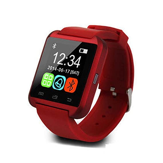 Sholdnut USB Android Bluetooth Smart Wrist Watch Mobile Phone Pedometer Smart Wrist Watches (RED)