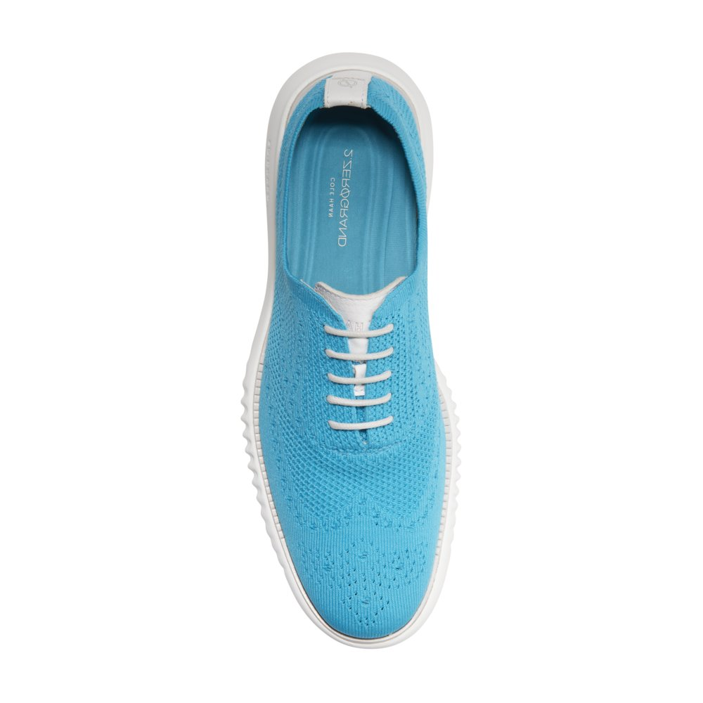 Cole Haan Men's 2 Zerogrand Oxford with Stitchlite 11 Atomic Blue Knit-Vapor Gray by Cole Haan (Image #2)