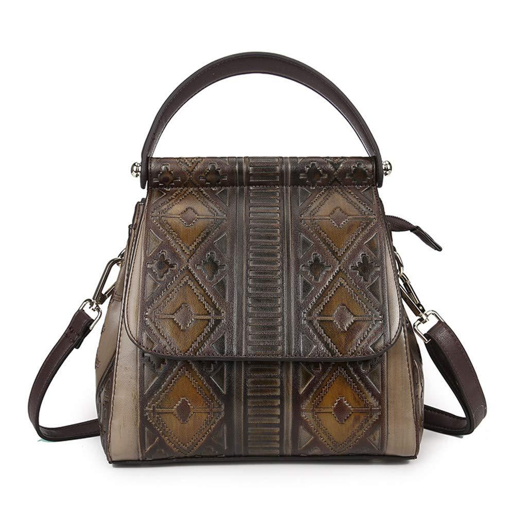 Women PVC Embossed Handbag Famous Female Tote Bag Vintage Trend Multipurpose Shoulder Messenger Bags Ladies Back Pack Coffee