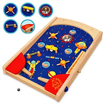 BoisAmazon Pinball esJuguetes Space Juegos En Y UpMSzV
