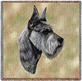 Pure Country 1176-LS Schnauzer Pet Blanket, Canine on Beige Background, 54 by 54-Inch