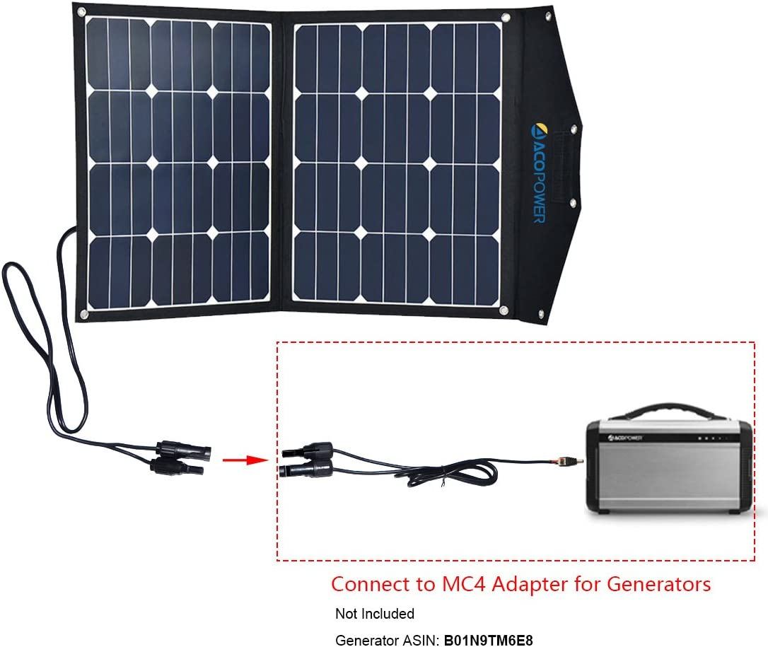 12V Portable Solar Kit with 10A LCD Charge Controller in Suitcase ACOPOWER 80W Foldable Solar Panel