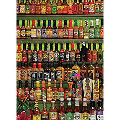 Cobblehill 80063 1000 pc Hot Sauce Puzzle, Various: Toys & Games