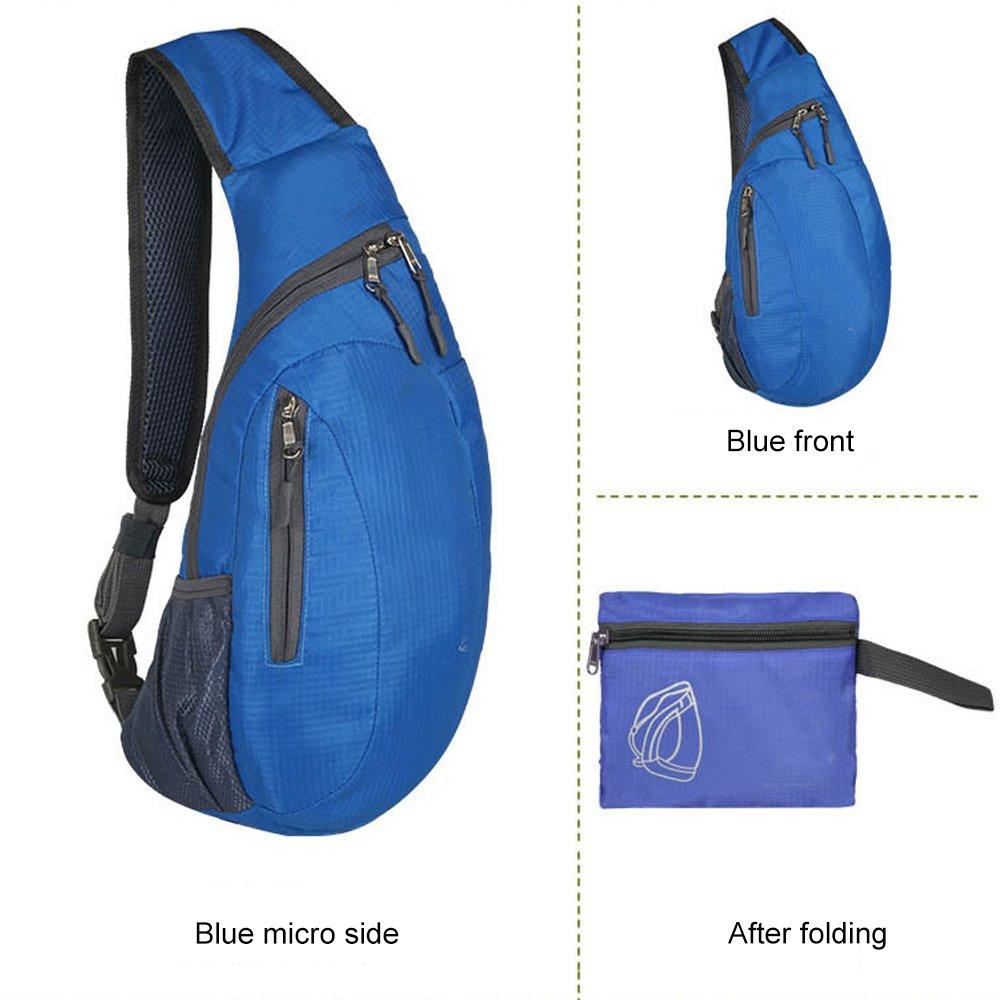 bleu Sac de poitrine Sling Sac /à dos /à bandouli/ère pour homme et femme