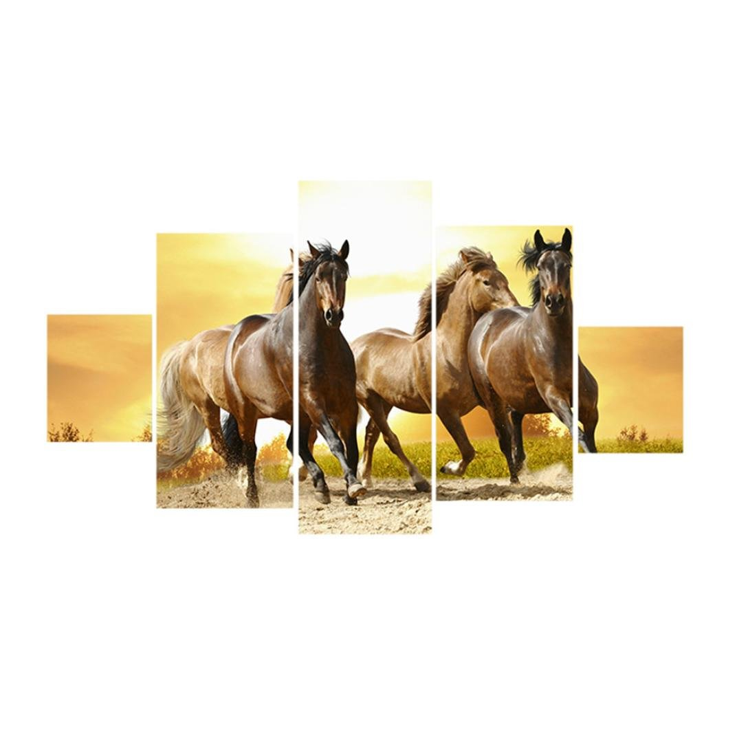 DaoAG 5 Pcs Unframed Modern Art Oil Painting Canvas Picture Wall Room Decoration