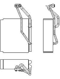 TYC 97131 Replacement Evaporator