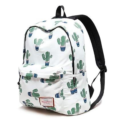 negozio online 589dc 85ba6 GZP Zaino Scuola, Cactus Print-Collegio Capacità Del Vento ...