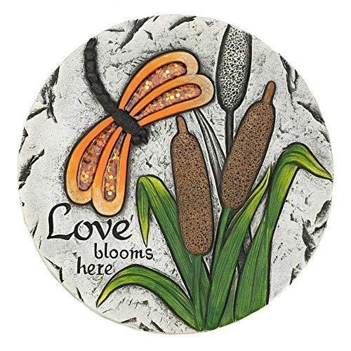 Summerfield Terrace 10018544 Love Blooms Here Stepping Stone Multicolor