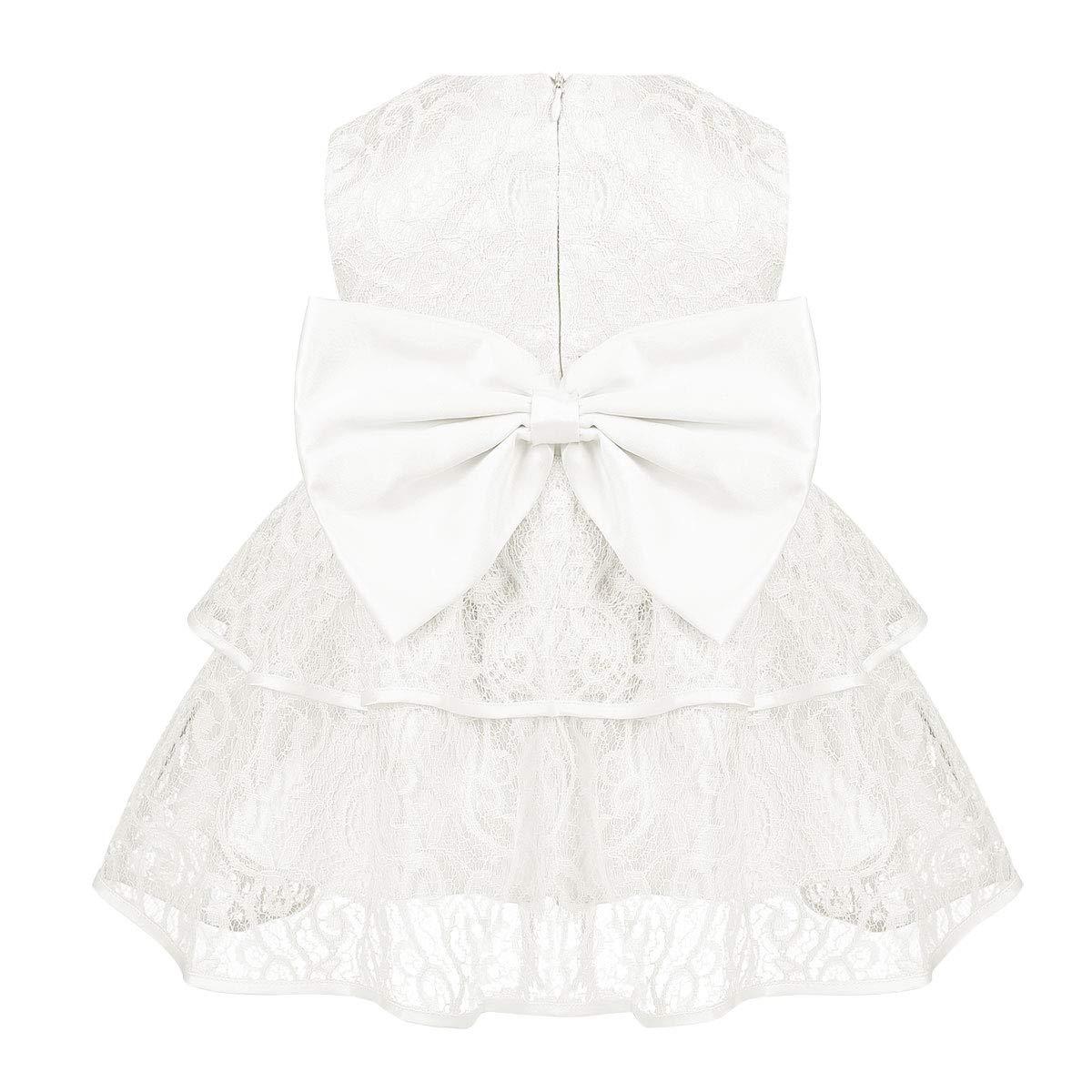 MSemis Baby M/ädchen Prinzessin Kleid Blumenm/ädchenkleid Taufkleid mit Bowknot Spitzen Festlich Kleid Hochzeit Partykleid Festzug Tutu Kleider