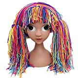 Funbase Baby Kids Knit Braid Fake Hair Hat Wig Headwear for Halloween Costume