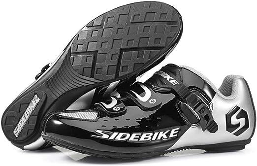 FJJLOVE Zapatillas De Ciclismo De Carretera Unisex, Zapatillas De ...
