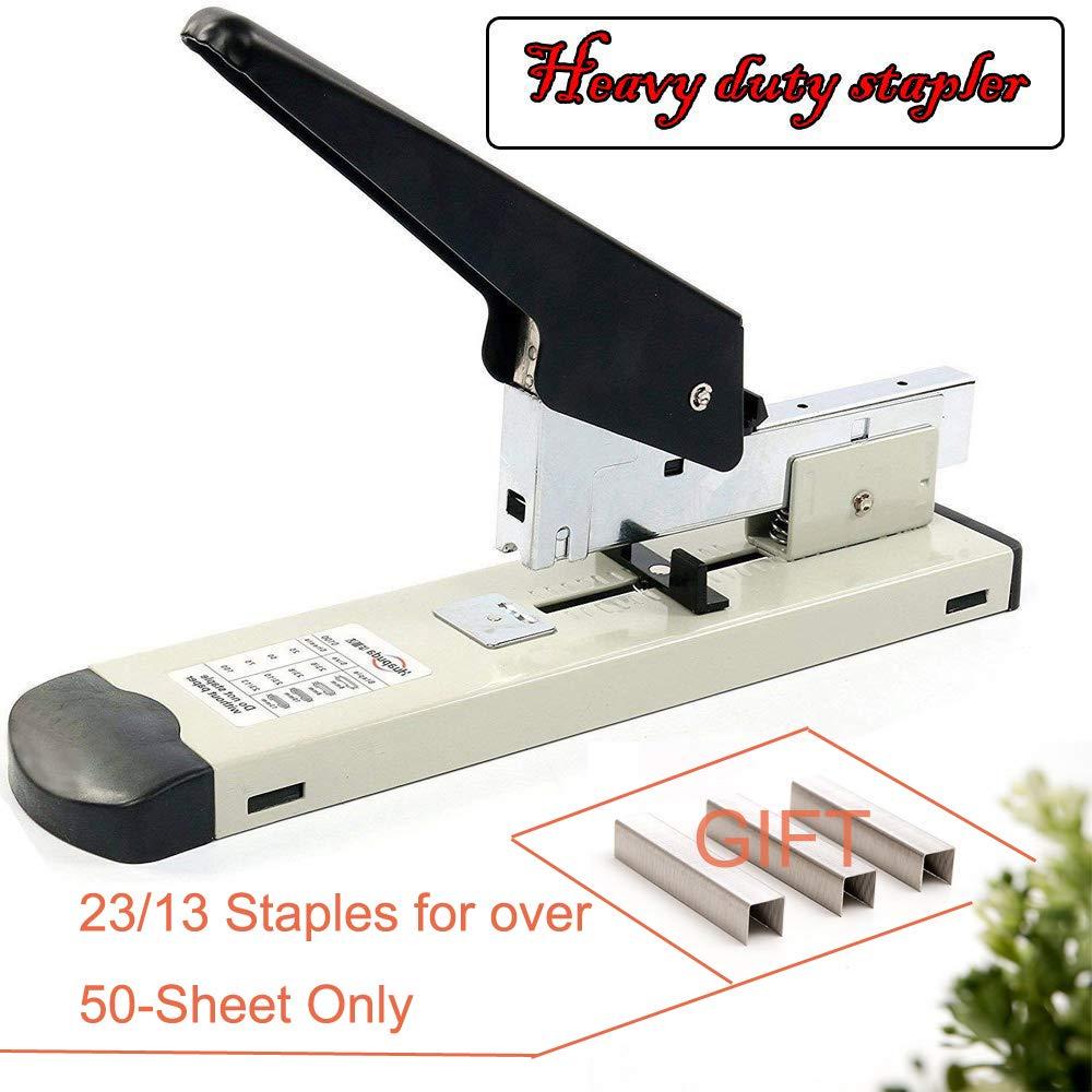 ONDY Heavy Duty Stapler with 1000 Staples, 100 Sheet High Capacity, Office Stapler, Desk Stapler, Big Stapler, Paper Stapler, Commercial Stapler, Large Stapler, Industrial Stapler, Heavy Stapler
