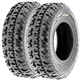 SunF 20x6-10 20x6x10 ATV UTV All Terrain Trail Replacement 6 PR Tubeless Tires A031, [Set of 2]