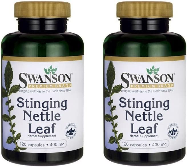 Swanson Stinging Nettle Leaf 400 mg 120 Caps 2 Pack