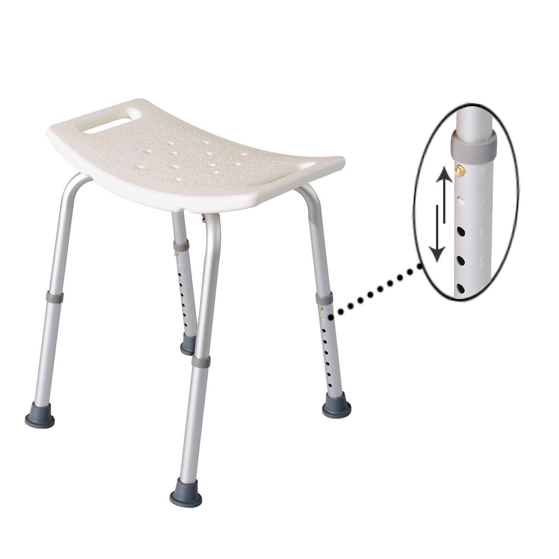 New White Medical Bathtub Shower Safty Chair Aid Bath Support Stool Bench Seat Adjustable