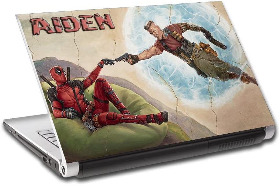 Deadpool Personalized LAPTOP Skin Cover Decal Vinyl Sticker Super Hero L763, 15.6""