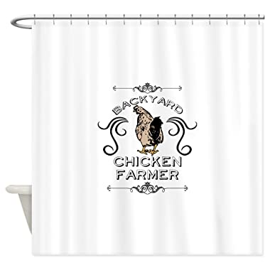 CafePress Backyard Chicken Farmer Decorative Fabric Shower Curtain (69 x70 )