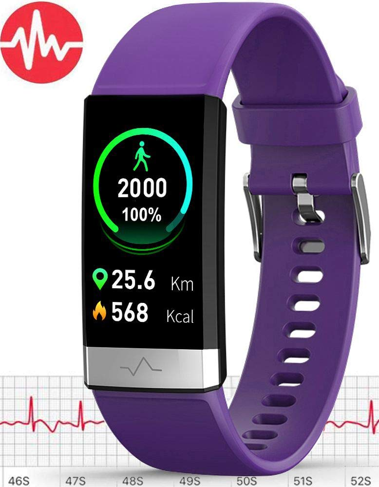 MorePro E.C.G Fitness Tracker HRV,HD Color Screen Activity Tracker with Heart Rate Blood Pressure,Waterproof Health Watch,Sleep Monitor Pedometer Step Counter for Men Women Android iOS