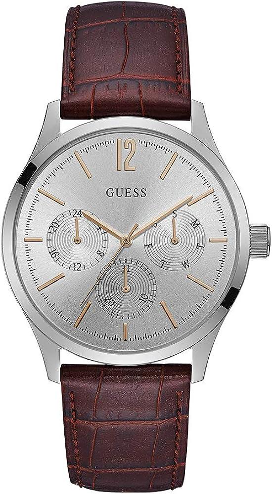 GUESS Regent Reloj de hombre cuarzo 42mm correa de cuero caja de acero W1041G1
