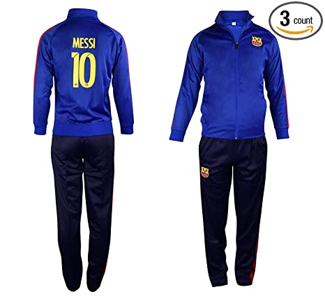 3d3567ae1e2 Fan Kitbag Barcelona Messi #10 Kids Soccer Tracksuit All Youth Sizes ✓ Messi  #10