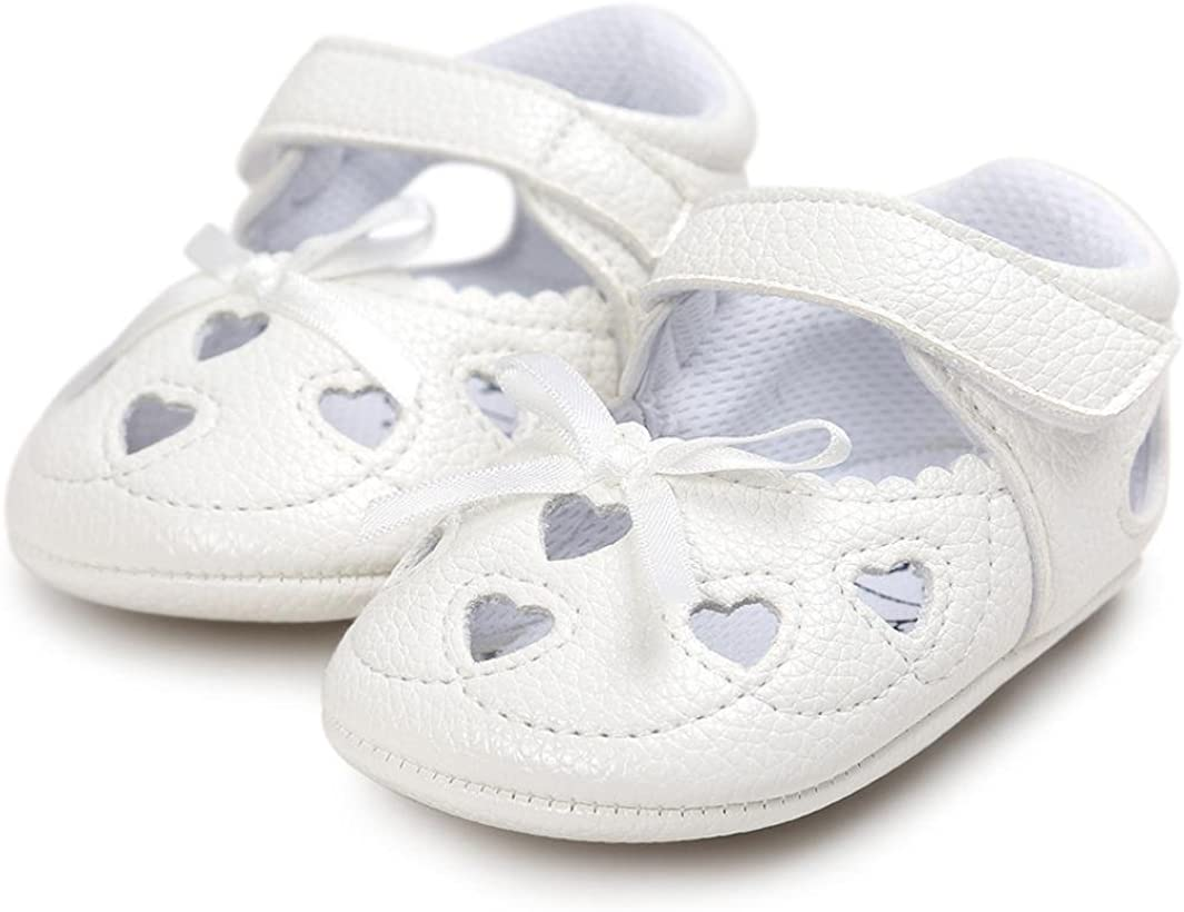 Jinjiu Baby Girl Heart Hollow Out Sandals Casual Soft Sole Mary Jane Shoes