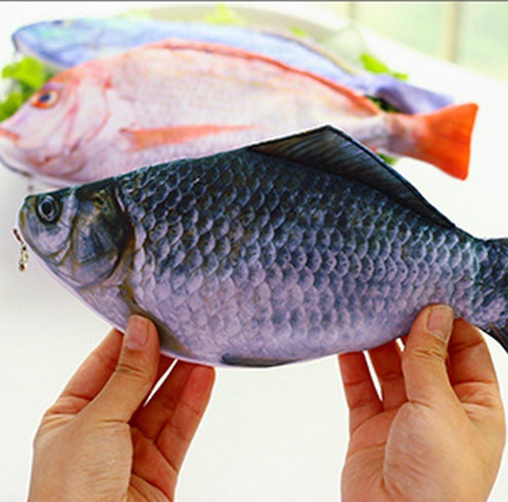Demarkt Fisch Federm/äppchen Stiftemappe Federtasche M/äppchen Bleistift Tasche Stifte Beutel Orange