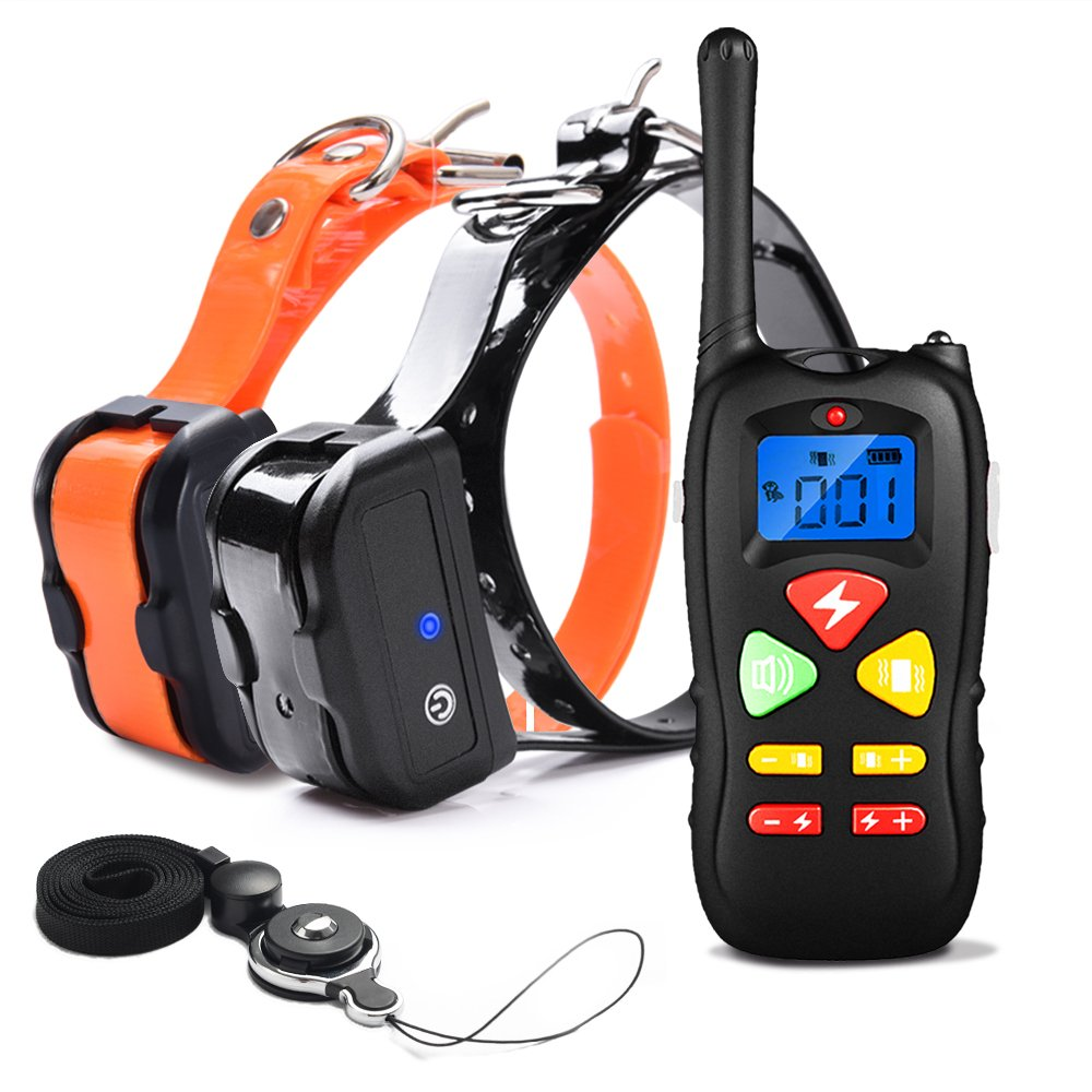 For Two Dogs PetInn Dog Training Collar Waterproof and Rechargeable 450m Remote Dog Shock Collar with Beep, Vibration and Shock Electronic Collar for 2 Dogs