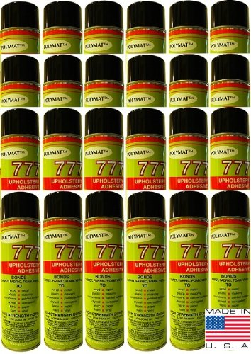 QTY 24 POLYMAT 777 Spray Glue Multipurpose Bond Adhesive for Wood Button Sewing Projects by Polymat