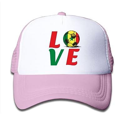 58cc3065270 2018 Love Senegal Football Boy Kids Adjustable Trucker Visor Caps Mesh  Baseball Hats