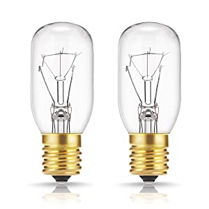 40 Watt Appliance Light Bulb, DORESshop T8 Tubular Incandescent Light Bulbs, Microwave Oven Replacement Bulb, E17 Indicator Intermediate Base, Dimmable, Warm Whte Glow, 2Pack