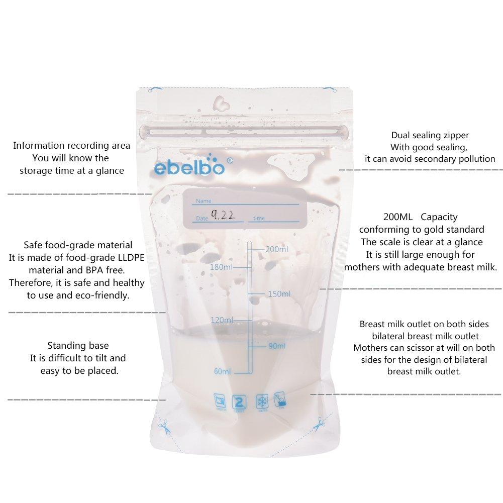 Muttermilch Aufbewahrungsbeutel Muttermilch pre-sterilized Easy Freeze 200/ml Dichtung Stillen Gefrier-Beh/älter mit auslaufsicherer vorsterilisiert Pack Infant Baby Container Genaue Messungen 30/St/ück olyethylene Lebensmittelqualit/ä