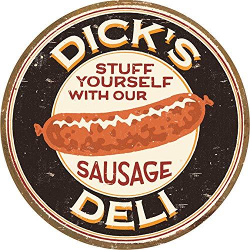 Eletina Star Moore - Dick's Sausage Deli Tin Logo, 12x8 Diameter