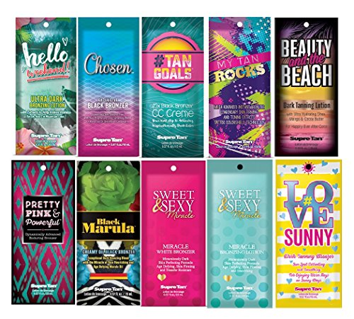 Supre Indoor Tanning Bronzer Lotion Packets Samples Differen