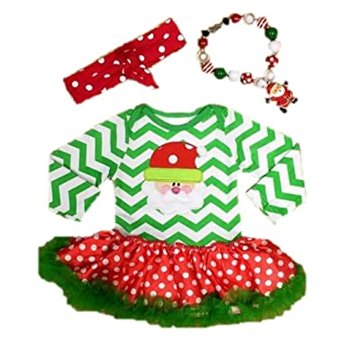 19e09c79ecb7d Amazon Com Cute Kids Clothing Baby Girl Santa Tutu Dress Christmas