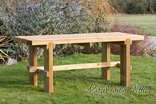 Elche Solid Wood Outdoor Furniture Garden Dining Table - 10 Year warranty against rot