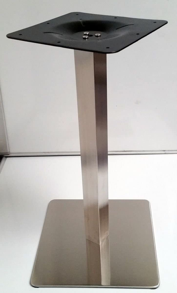 Pata de mesa TB4 Acero Inoxidable/macizo para mesa de hostelería Soporte de acero inoxidable para mesas de hasta 80 x 80 cm. NUEVO pata de mesa altura 73 cm (revestimiento de acero
